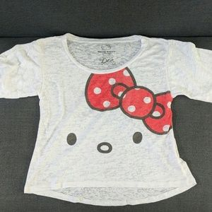 NEW Hello Kitty Burnout Crop Top
